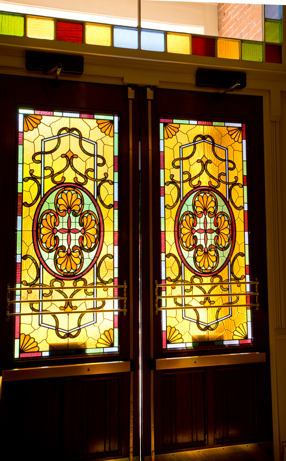 Stained-glass doors