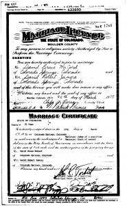 Boulder Marriage License