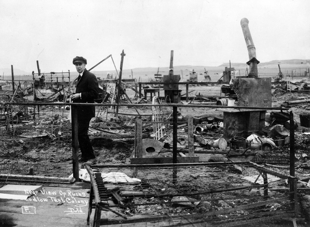 Smoldering frames and debris were all that remained of the Ludlow tent colony after National Guardsmen burned it down during the Ludlow Massacre on April 20 ... & Ruins of Ludlow Tent Colony | Images | Colorado Encyclopedia