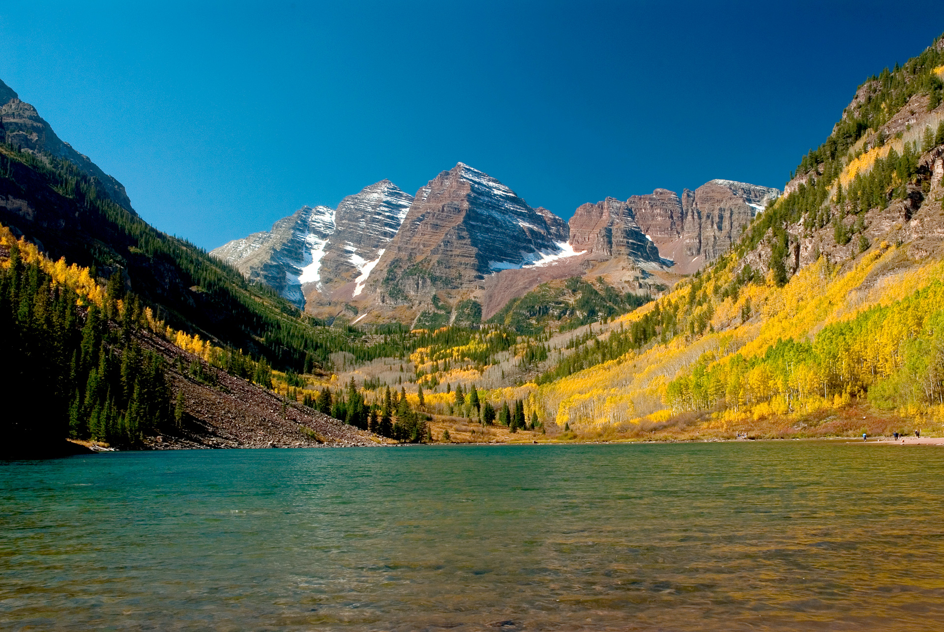 Maroon Bells in Fall   Images   Colorado Encyclopedia