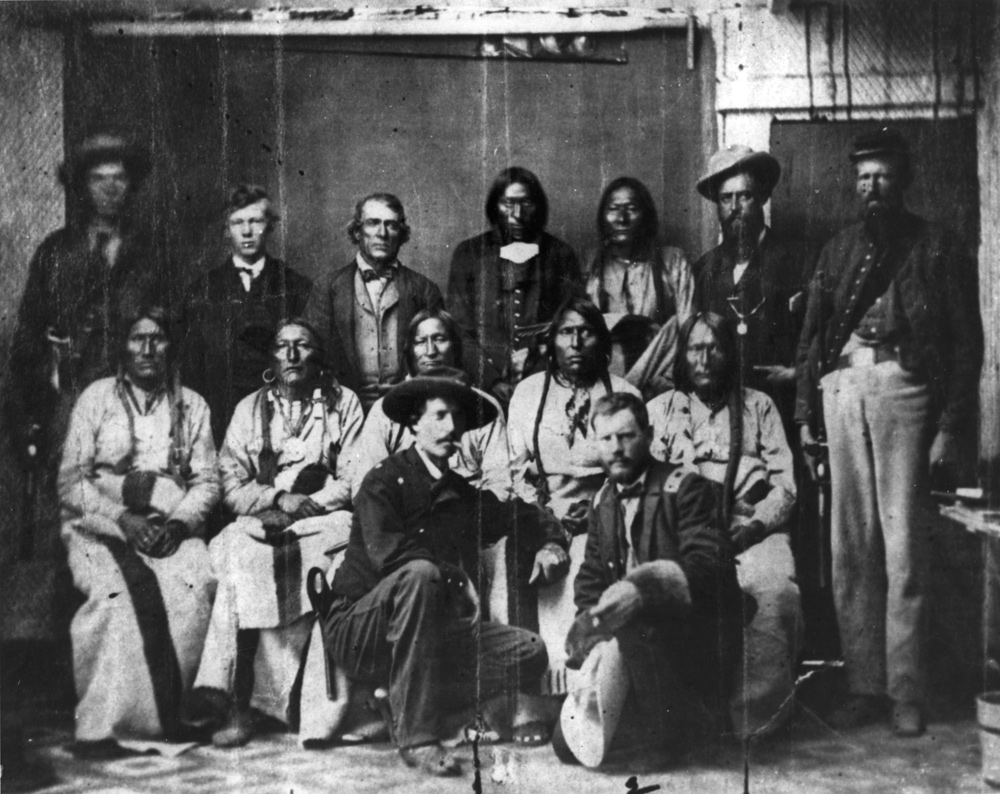 Arapaho And Cheyenne Delegation At Camp Weld 1864