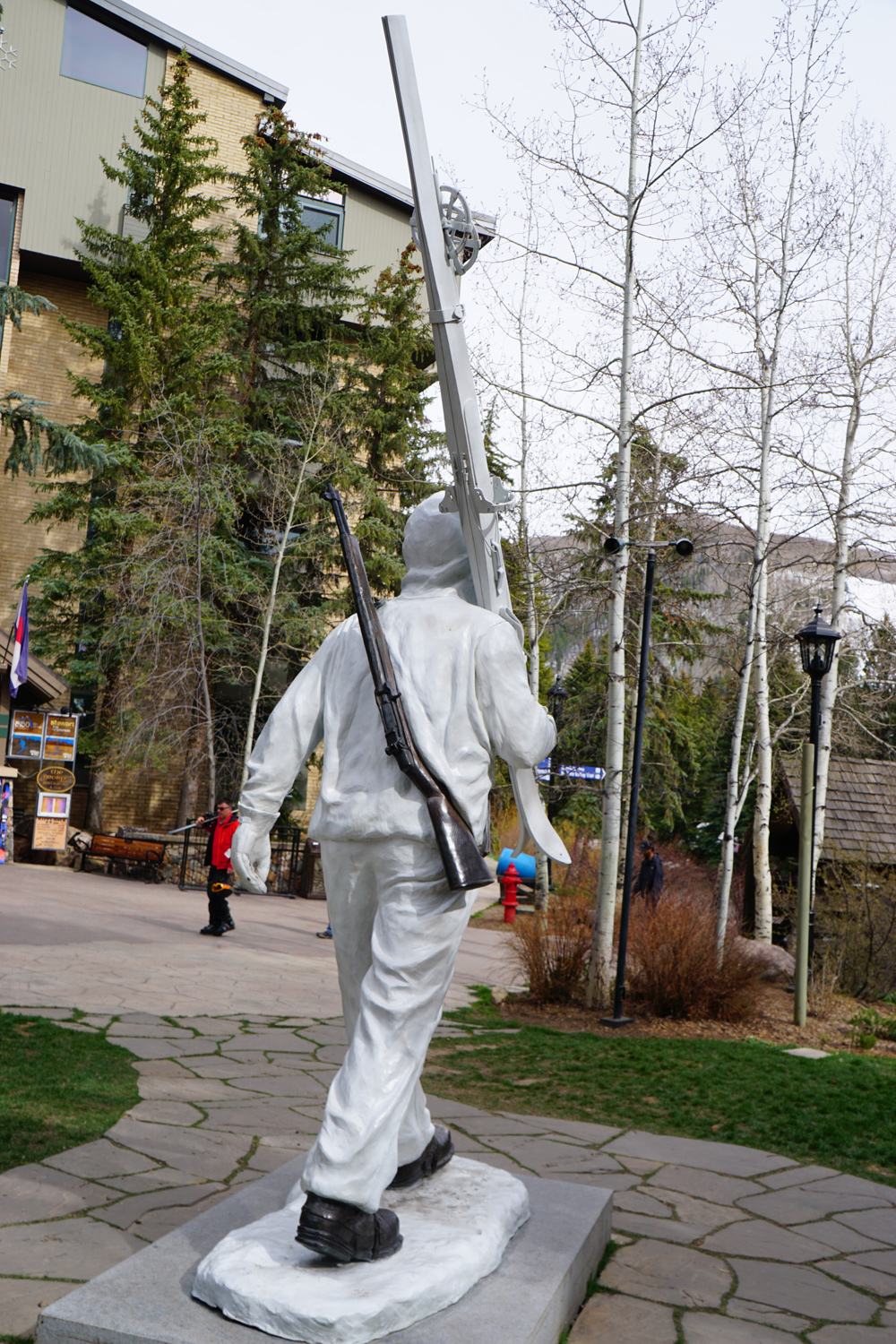 The Tenth Mountain Division Soldier Statue in Vail