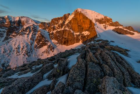 Diamond Wall on Longs Peak