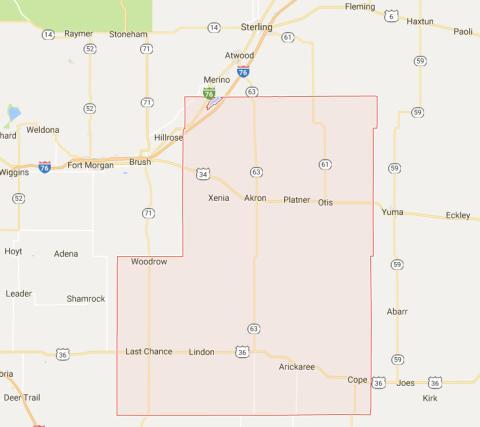 Washington County Articles Colorado Encyclopedia - Washington county map