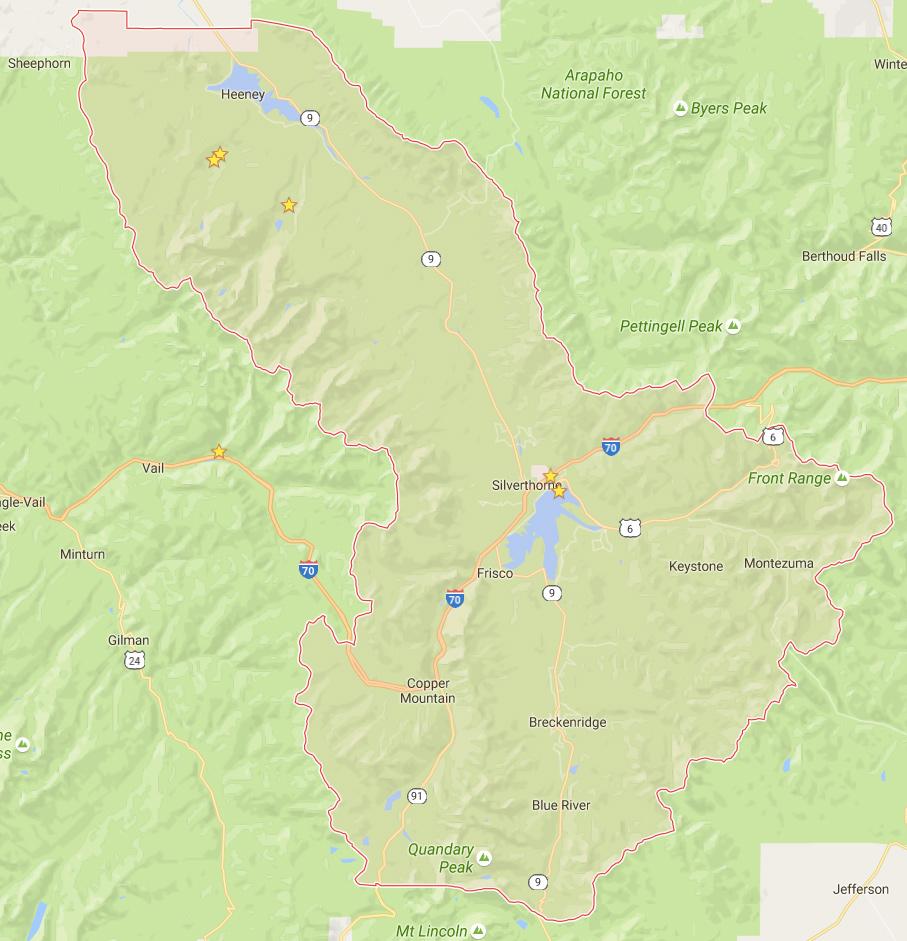 Google Colorado Map.Summit County On Google Map Images Colorado Encyclopedia